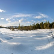 sweish lappland snow covered valley